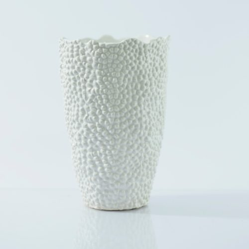 Organic White Vase