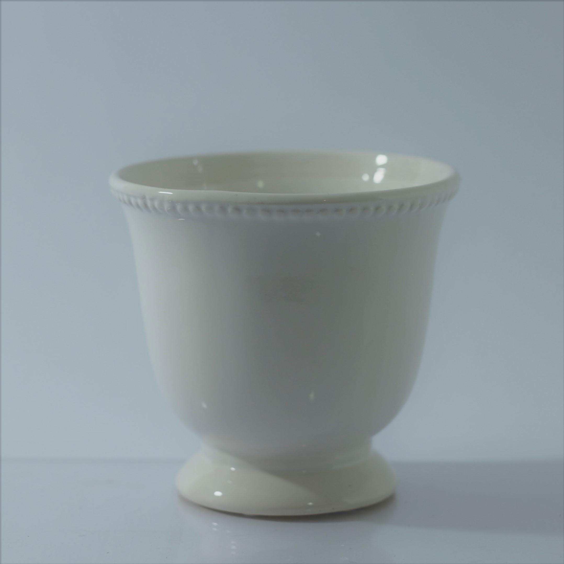 Large White French Vase